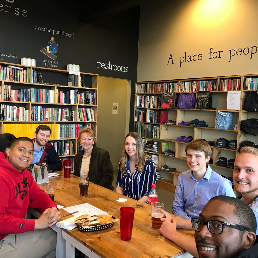 Hamilton County Young Democrats at trivia night at Books & Brews in Carmel 2018