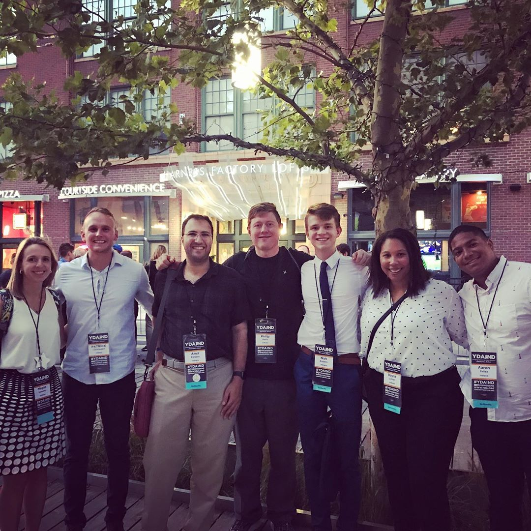 Hamilton County Young Democrats together on Georgia Street during the Young Democrats of America National Convention in Indianapolis 2019