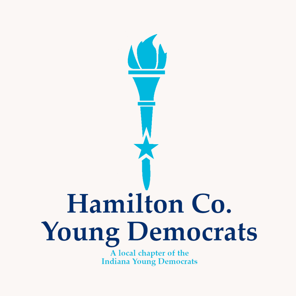 Blue Torch Logo for the Hamilton County Young Democrats a Local Chapter of the Indiana Young Democrats