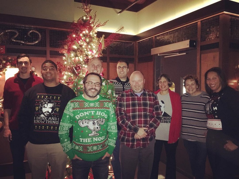 Ugly Sweater Holiday Party at Bar Louie in Carmel for the Hamilton County Young Democrats