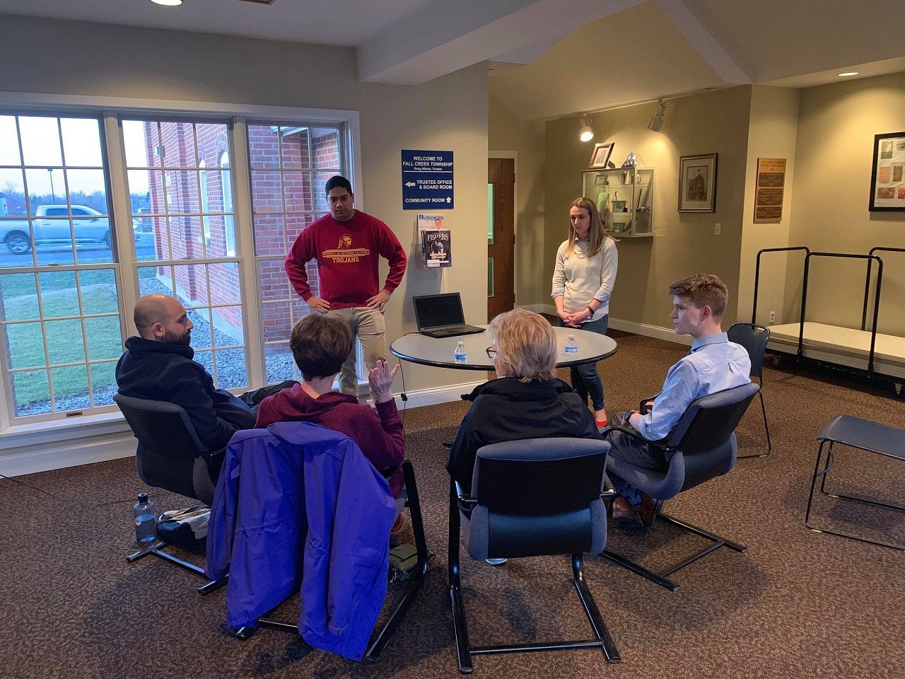 Municipal Training for Volunteers at the Fall Creek Township Office in Fishers by the Hamilton County Young Democrats