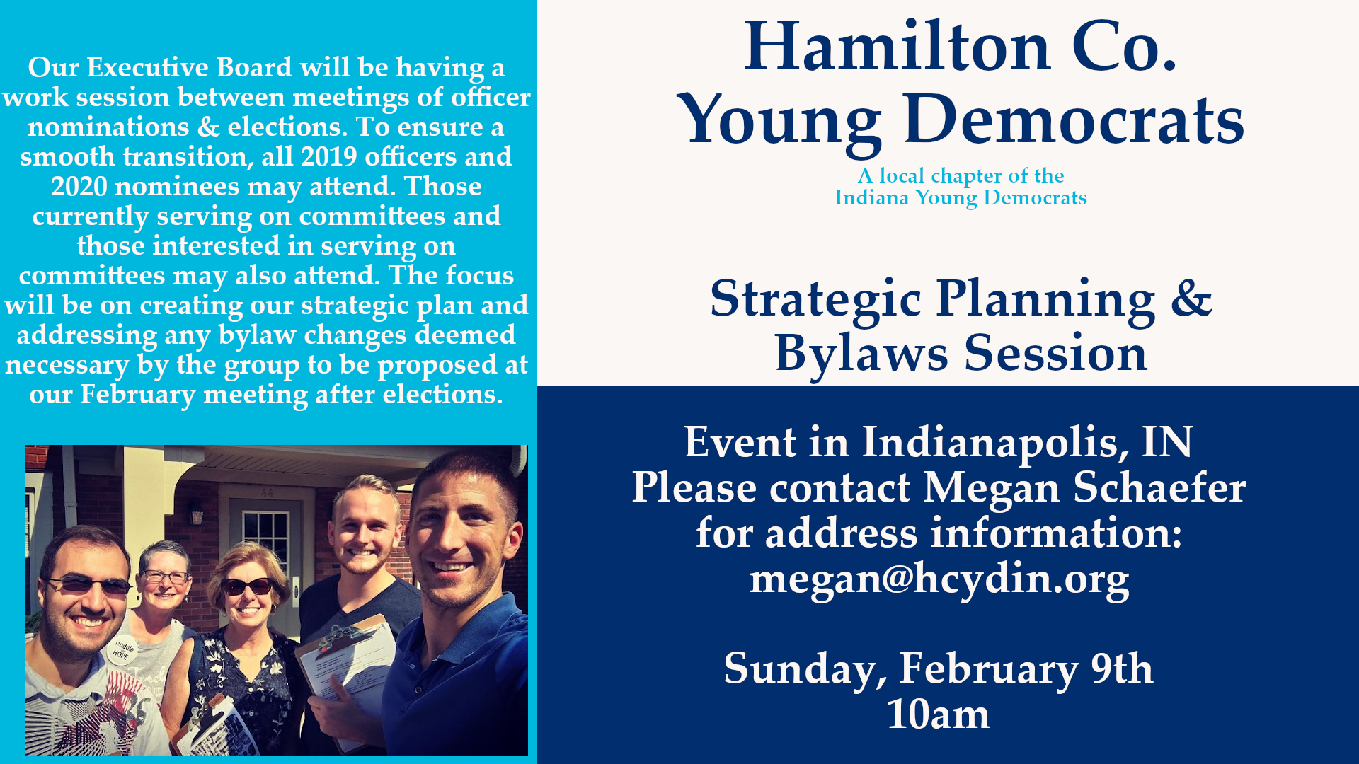 Strategic Planning Bylaws Session Indianapolis Hamilton County Young Democrats 2020